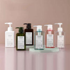 450ml PETG Pump Square Lotion Bottles Shower Gel Hand Sanitizer Bottle Cosmetic Sub-Packing Plastic Bottle 6 Colors DHD3182
