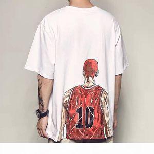 Januarysnow T shirt Men Slam Dunk Rukawa maple cartoon clothing breathable Short T-shirt surrounding clothes Tshirt Streetwear
