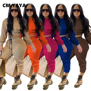 Cm. Yaya Sport SweatSuit Femmes Cupport Crop Top Jogger Broek Formation active Association Association Seconde Tenue de fitness