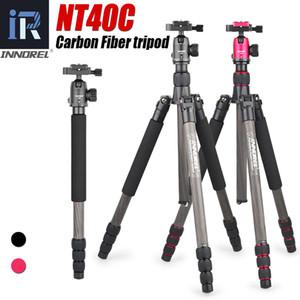 NT40C Профессиональный углеродного волокна штатив монопод стенд шаровой головкой для цифровой камеры DSLR Light High Quality рубец для GoproTripode Y1117