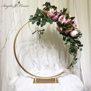 40 50 60cm Wedding arch table centerpiece artificial flower stand road lead window display frame shelf party table flower decor