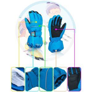 Niños Niños Invierno Montaña Cálida Snowboard Ski Gloves Impermeable Finger Mittens para deportes al aire libre Skiing Cycling