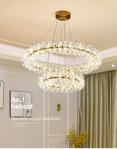 New crystal flower ceiling chandelier led Luxury indoor lighting home decoration for Living Room Bedroom Restaurant G4 bulb