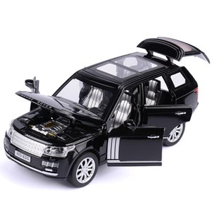 1:32 Range Rover SUV Simulation Toy Car Model Alloy Pull Back Children Toys Collection Gift Off-Road Vehicle Kids 6 open door Z1124