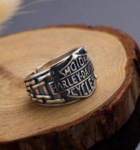 New Hot Selling Fashion Men Domineering Personality Retro Punk Ring Stainless Steel Motorcycle Accessories Jewellery Gifts