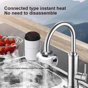 Torneira de aquecimento elétrico Torneiras de pia instantâneas aquecedor de água quente com tela de temperatura LCD para cozinha de casa de banho