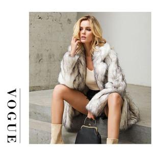 Jane Deiune New Autunno Inverno Donne Donne Elegante Faux Cappotto di pelliccia Lady Singole caldo Casual Outwear Fashion Chic Streetwear Casaco