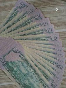 US Dollar Hot Sales Movie Pop Banknote 50 Dolars Party Fake Money Bar Prop Money Games Colección Regalos 016