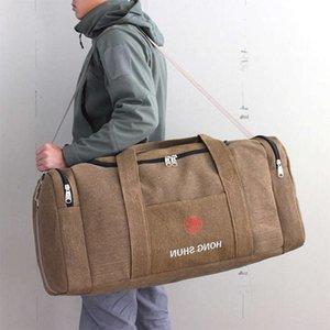 Borse da uomo su tela Borse di grandi dimensioni Duffel a mano bagaglio multifunzione sacchetto del fine settimana sac de xa243k