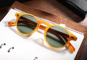 Мужчины женщины 45 мм 47 мм 2 мм 2size OV 5186 Винтажные поляризованные солнцезащитные очки OV5186 Ретро Gregory Peck Brand Sun Glasses Eyewear с оригинальной коробкой