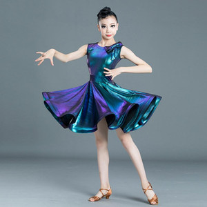Girls Latin Dance Costume Kids Modern Latin Ballroom Party Dancing Dailing Dailing Dailing Destale ropa para niñas SL2295