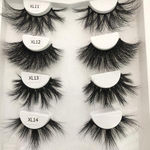 Mink Eyelashes 30mm Lashes Fluffy Messy 3D False Eyelash Dramatic Long Natural Makeup Mink Lashes
