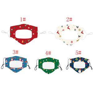 Weihnachtslippe Sprachmaske Mode Transparent Druck Facs Masken Erwachsene und Kinder Weihnachten Design Masken Kostenloser FFE3280