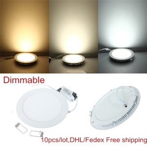 10pcs lot Dimmable Ultra thin 3W 4W  6W   9W   12W  15W  25W LED Ceiling Recessed Grid Panel light   Slim Round Panel Light Q1121