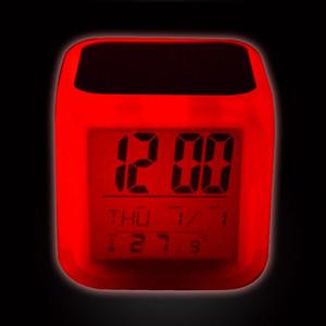 Sveglia vuota di sublimazione LED Camera da letto quadrato Glow Glow Electronics LED Tavolo orologi da tavolo Quadrato Camera da letto quadrata Colorful Transfer Clock GGA3843-3