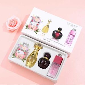Marca Conjunto de maquillaje Colección Matte Lipstick 25ml Perfume 4 en 1 Kit de cosméticos con caja de regalo para mujeres