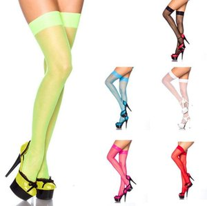 Bkld 2019 New Fashion Candy Hot Style Their Summer Sexy Lady Pure Color Translucent Thin Silk Stockings