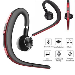 2019 New Fashion Men Business Hands Free Ruido Cancelación Auricular Inalámbrico Bluetooth Auriculares deportivos con micrófono para conducir por teléfono