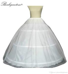 حار بيع من -line الكرة ثوب 3 الأطواق البيضاء تحتية ثوب العرسان ثوب نسائي مع الدانتيل حافة الزفاف كرينولين 20216