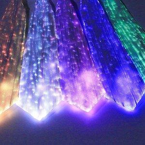 Светодиодный свет светящийся галстук моды красочные вечеринки концерт светящиеся реквизиты -OPK