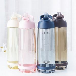 1000ml Water Bottle With Straw Portable Sports Shaker Gym Bottles My Drink Cute Water Bottle Kids Baby Waterbottle Drinkware 201126