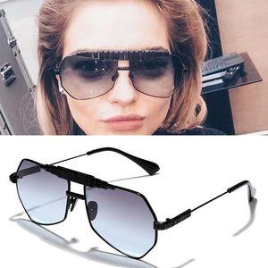 luxury diamond-studded square diamond men polygonal pilot sunglasses metal novel modeling personality fashion women sunglasses