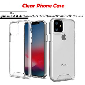 Crystal Clear Hybrid PC TPU Shockproof Protection Back Cover for iPhone 7 8plus X XS MAX XR 11 11 Pro 12 12 Pro Max Good Quality