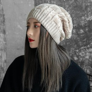 Hats, women, winter heaps, hats, double-layer, thickened knitted wool caps, winter warm ear protectors hats for women fashion