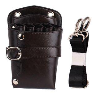 PU Shoulder Waterproof Holder Casual Waist Pack Adjustable Strap Barber Hairdresser Bag Scissors Tool Storage Pouch Rivet