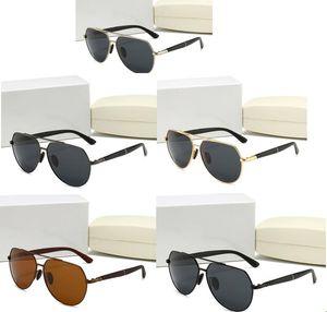 2020 Lunettes de soleil de luxe Mens et femmes de lunettes de soleil pour femmes Cadre d'or Cadre carré Cadre en métal Sports Style de rétro de plein air Style classique avec boîte