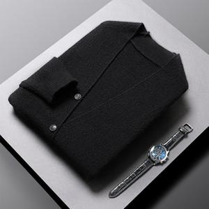 2021 High End Designer New Autum Hiver Marque Mode Tricot Bouton Bouton Cardigan Chandiers Cute Casual Hommes Manteaux Veste Veste Vêtements