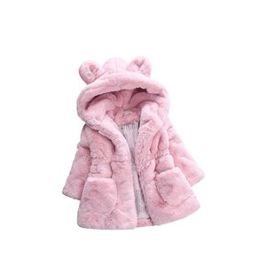 Girl Winter Velvet Coat Baby Girls Rabbit Ear Coats Children Winter Clothing QED 001