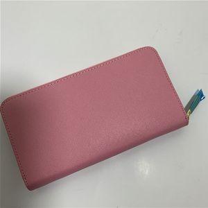 Großhandel 7 farben mode frauen brieftasche berühmt einzelne reißverschluss brieftaschen weibliche pu leder geldbörse lange brieftaschen