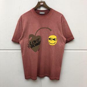 Amor bomba camiseta homens mulheres de alta qualidade t camisa de moda estilo rua verão tops