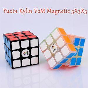 YUXIN KYLIN V2 M Магнитный 3x3x3 Magic Cube 3x3 головоломки Cube Kylin V2M Магнитная скорость Cube 3x3x3 Cubo Magico 201219