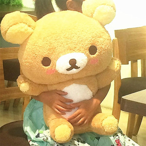 55 Giant Rilakkuma Bear Plush Toys Life Size Relax Bear Pillow Dolls Soft Stuffed Animals Valentine's Day Girlfriend Gif Y200703