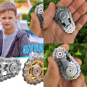 Jouets Gyro Sprocket Flywheel Fidget Métal Toy Fingertip vitesse chaîne Roadbike Spinner enfants et cadeaux de Noël KBRZ