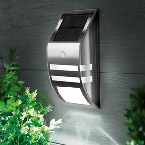 Solar Powered PIR Motion Sensor 2 LED Light Outdoor Garden Led Landscape Yard Lawn Security Wall Lamp