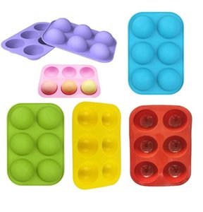 Ball Sphere Silicone Mold For Cake Pastry Baking Chocolate Candy Fondant Bakeware Round Shape Dessert Mould DIY Decorating DHB3314