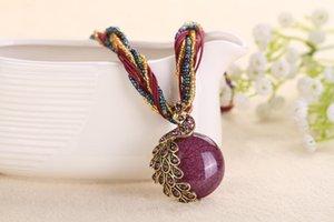 TomTosh 2020 новый павлин украшения грубой короткой ключику женскую цепь драгоценный камень кулон ожерелье стиль летние украшения