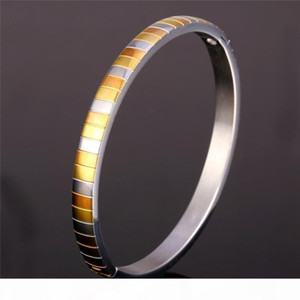 Unisex Gold Rose Gold Two-Tone Gold Plated Stainless Steel Jewelry for Women or Men 2015 New Fashion Bangle