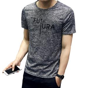 2020 Summer Men T-Shirt Casual Polyester Brand T-shirts Mens O Neck Man Korea Slim Style T-shirt For Boy Male 3XL Tshirts Homme