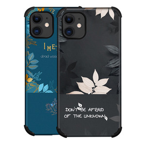 Silk Fiber Emboss Painting Flower Shockproof Phone Case for iPhone 12 Mini 11 Pro XS Max XR X 7 8 Plus