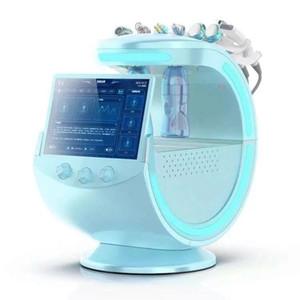 Buz Mavi Ultrasonik RF 7 1 Aqua Yüz Jet Soyma Hidrojen Hidrakasiyal Soyma Ekipmanları Cilt Analizi ile