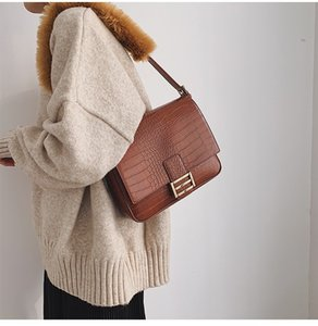 New Korean Style Niche Pu Small Square Bag Simple Crack Fashion Womens Furry Single-Shoulder Bag Elegant Small Bag Customization