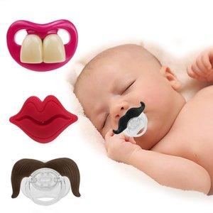 Silicone Chupeta Pacifier Engraçado Suotor Barba Dentes Vermelho Lábios Lábios Mamilo Criança Infantil Crianças Engraçado Pacifier GWD3528