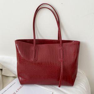 Large capacity simple style 2020 new trend popular tote bag solid one shoulder handbag