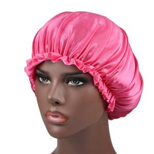Seide Spitze Duschkappe Frauen Monochrome Nightcap Lace Haarpflege Hut Satin Schlafkappe Haar Schönheit Elastische Badkappen CCA2474