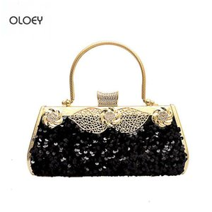 OLOEY New style sequined chain shoulder Messenger Rhinestone dinner Banquet bag Fashion high-end handbag Q1119