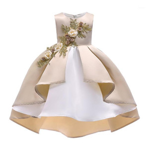 New years eve dress Princess Flower Girl Dress Summer Wedding Birthday Party Dresses For Girls Children Christmas girl1